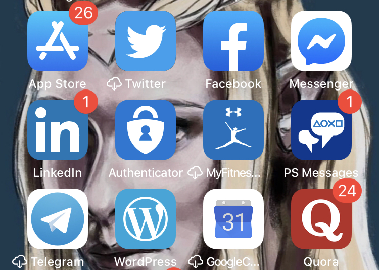 apps in blue