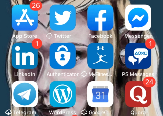 apps in blue